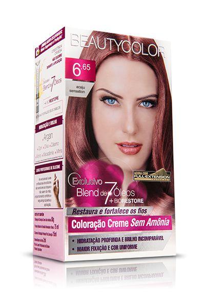Tintura Beauty Color Sem Amônia 6.65 acaju Sensation