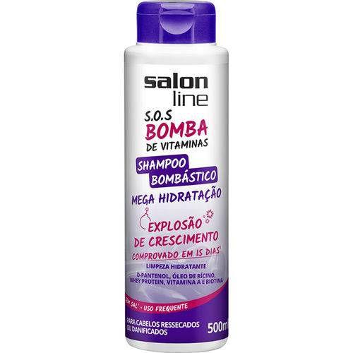 Shampoo Salon Line SOS Bombastico mega Hidratação 500ml