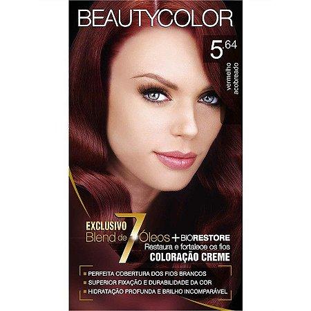 Tintura Beauty Color Sem Amônia 5.64 Vermelho Acobreado