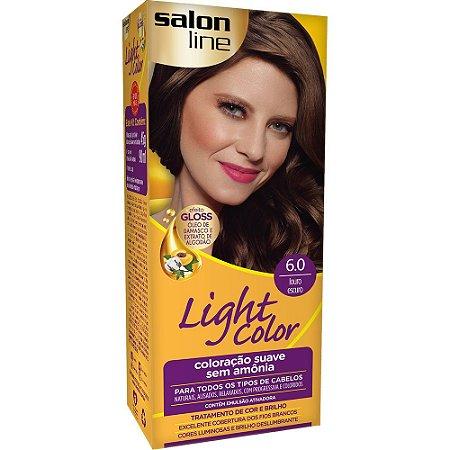 Tintura Ligth Color Sem Amônia 6.0 Louro Escuro