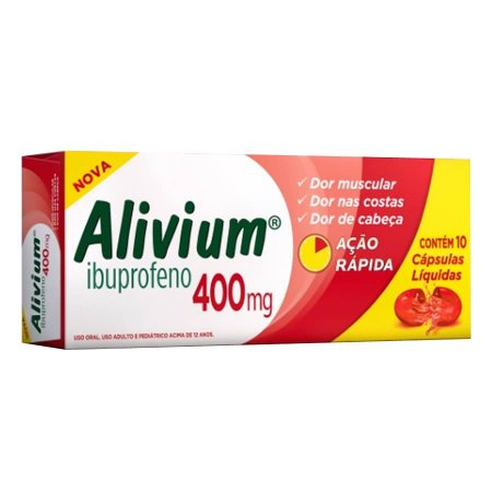 ALIVIUM  - IBUPROFENO 400MG 10 CAPS GEL