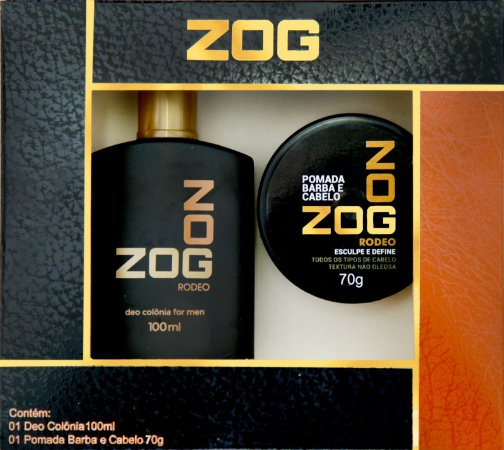Kit Colonia Zog Rodeo 100mL + Pomada Cabelo