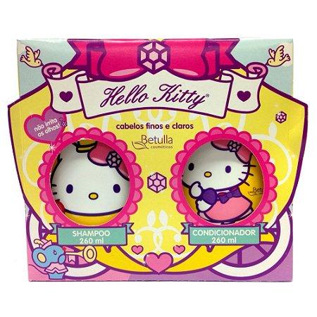 Kit Hello Kitty Shampoo e Condicionador Finos e Claros