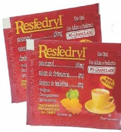 Resfedryl Envelope pó mel limão