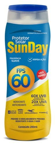 Protetor Solar SunDay  FPS 60 200ml