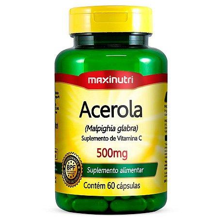 Acerola 500mg 60Caps Maxinutri