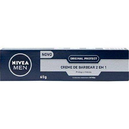 Creme de Barbear Nívea 2 em 1 Original Protect 65g
