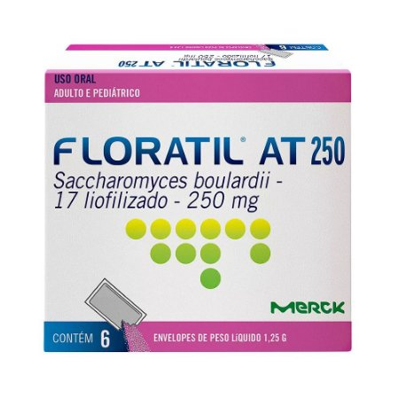 FLORATIL AT 250mg com 6 saches - MERCK