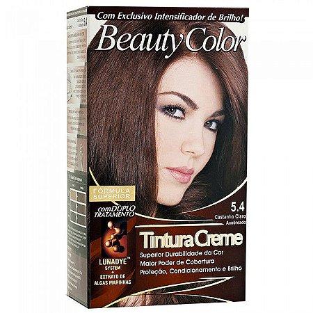 Tintura Beauty Color Bisnaga Nova 5.4 Castanho Claro Acobrea