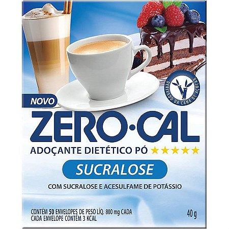 Adoçante Zero Cal Sucralose c/ 50 Envelopes