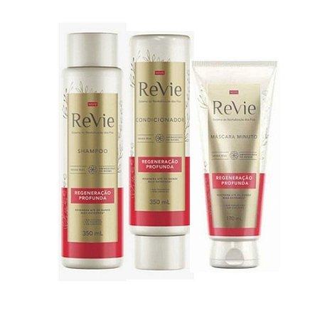 Kit Revie Regeneração Profunda (shampoo cond e máscara)