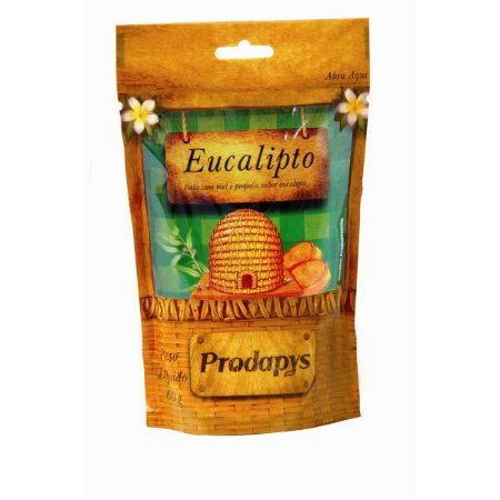 Bala com mel e propolis sabor eucalipto