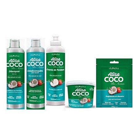 Kit Vita Seiva Alisa Coco (5 produtos)