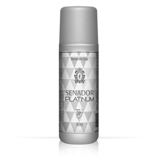 Desodorante Senador Spray Platinum 90ml