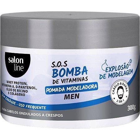 Salon Line Pomada Modeladora SOS Bomba de Vitaminas 300g