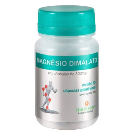 Magnésio Dimalato 500mg 60 Cápsulas Gelatinosas  Meissen