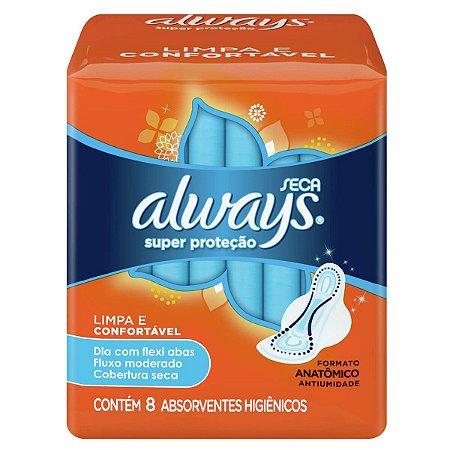 Abs Always Super Proteção Seca c/ Abas c/ 8 abs
