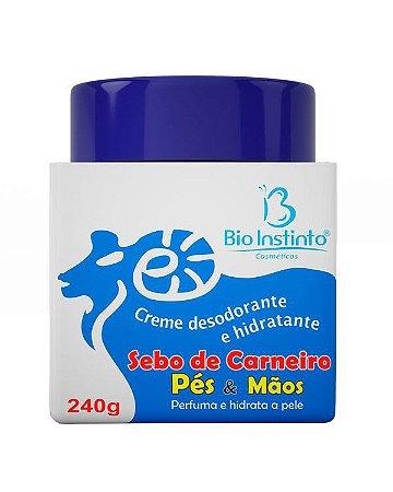 Bio Instinto Sebo de Carneiro Creme Pés e Maõs 240g