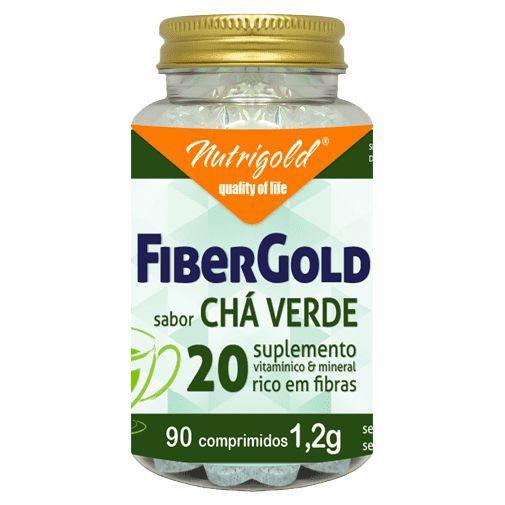 Fiber Gold Chá Verde 60cpr Nutrigold