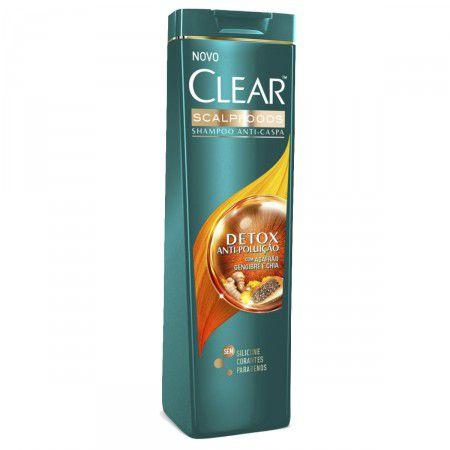 Shampoo Clear Men Anticaspa 200ml Detox Antipoluição