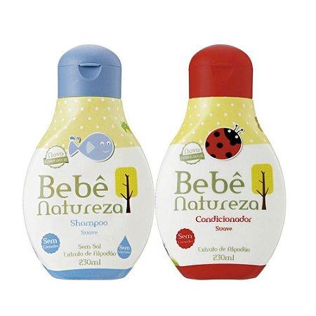 Kit Bebê Natureza Shampoo + Condicionador  Suave 230ml