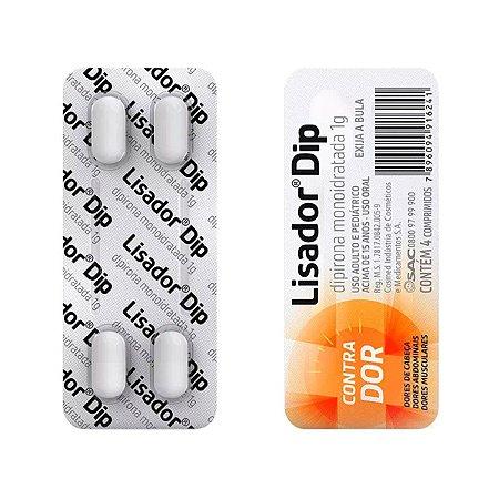 DIPIRONA 1g 4cpr - LISADOR DIP