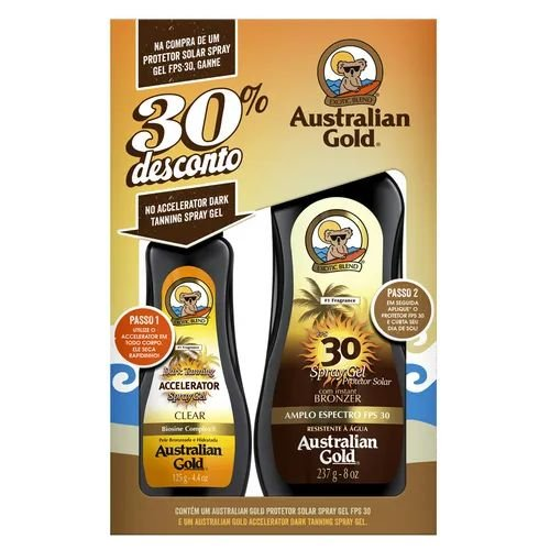 Kit  Australian Gold Spray Gel FPS30 125g+ Accelerator 237g
