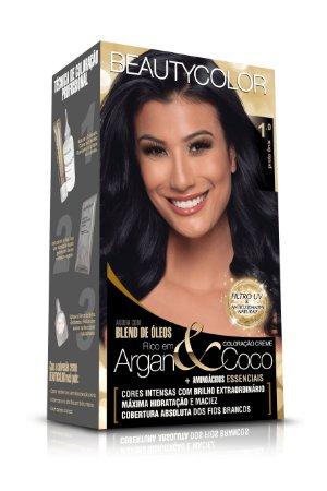 Tintura Beauty Color Kit Nova 1.0 Preto Onix