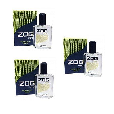 Colonia Zog Sport For Men 100ml (kit c/ 03)