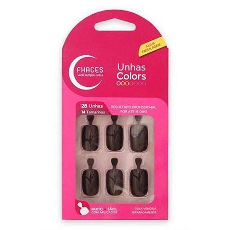 Unhas Fhaces Colors c/ 28 Unhas Chocolate  Ref.: U3061