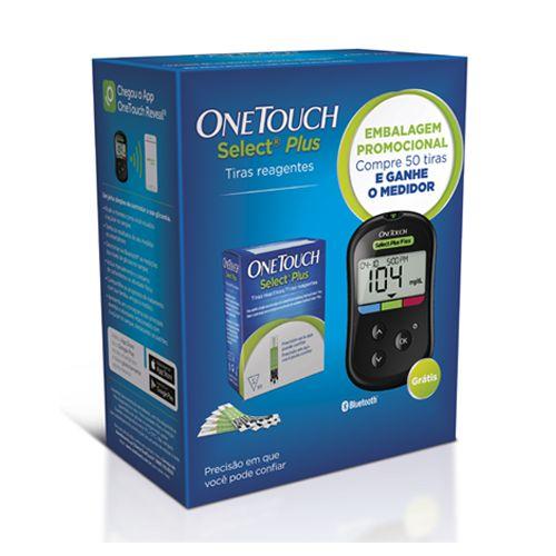 Tiras One Touch Select Plus c/50unid+Grátis Aparelho