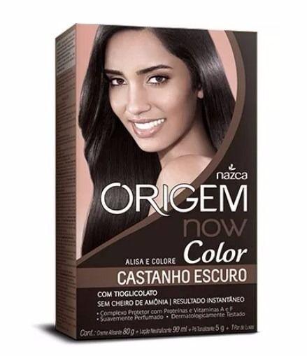 Kit Origem Now Color Alisa e Colore Castanho Escuro