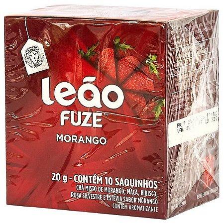 Chá Leão Fuze Morango 10 saquinhos