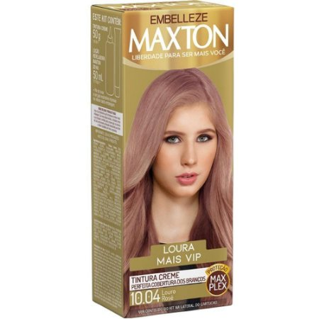 Tintura Maxton Kit 10.04 Louro Rose