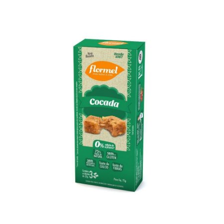 Doce Flormel 60g 3un Cocada Zero Sem Glútem