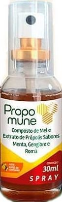 Spray Propomune propolis menta gengibre romã 30ml Maxinutri