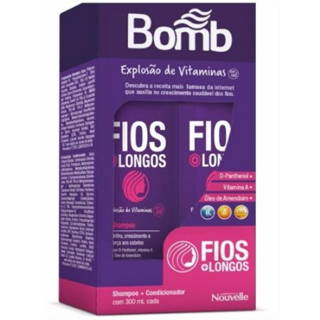 Bomb Vitaminas Explosão Sh e Cond 300ml c/d Cimed
