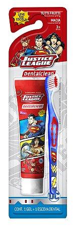 Gel Dental Dental Clean 50g +Escova Justice League +3anos