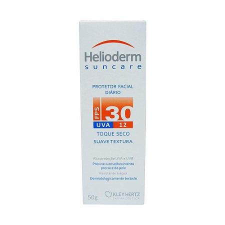 Helioderm Protetor Facial Diário FPS30 Toque Seco 50g Kley