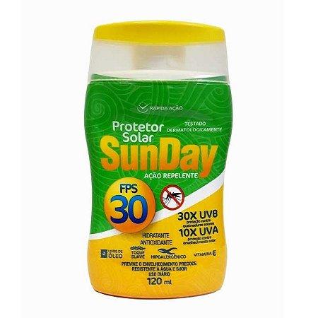 Protetor Solar Sunday FPS 30 Ação Repelente 120ml