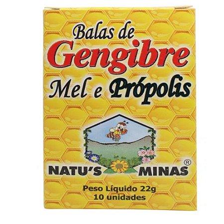Bala de Gengibre c/10 unidades NATUS'S MINAS (Caixinha)
