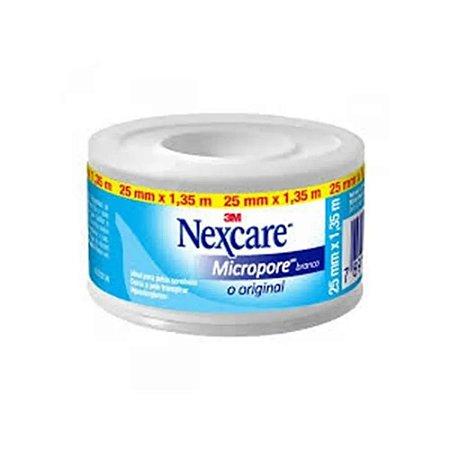 Esparadrapo Nexcare Micropore Branco 25mm x 1,35