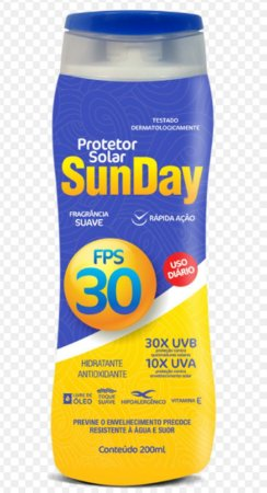 Protetor Solar Sun Day  FPS 30 200ml