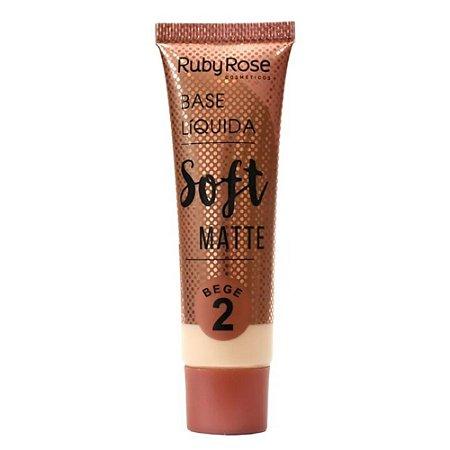 Base Ruby Rose Líquida Soft Matte Cor Bege 2 29ml