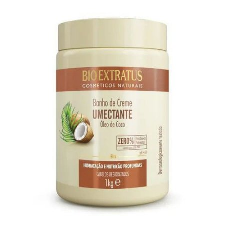 Banho de Creme Bio Extratus Umectante Óleo de Coco 1k