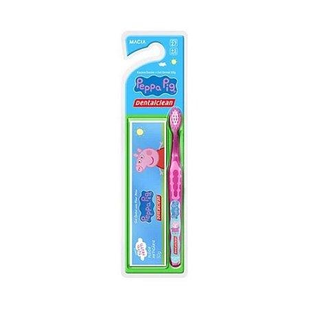 Kit Dental Dentalclean Infantil Peppa Escova+Gel 50g
