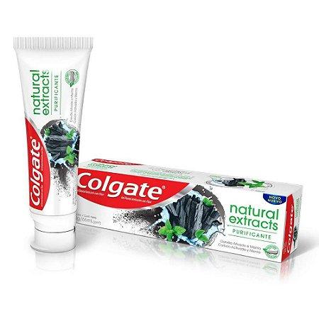 Creme Dental Colgate Natural Extracts Carvão Ativado 90g