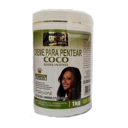 Ouribel Creme p/ Pentear 1kG Coco Gloss Intense