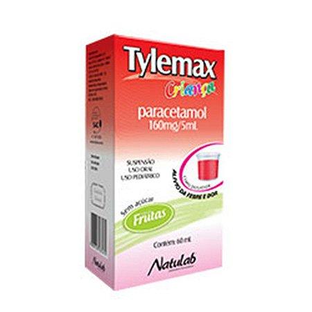 Paracetamol CRIANÇA - TYLEMAX S/AÇÚCAR 60ML FRUTAS