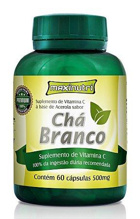 CHA BRANCO C/ACEROLA CPS C/60 MAXINUTRI